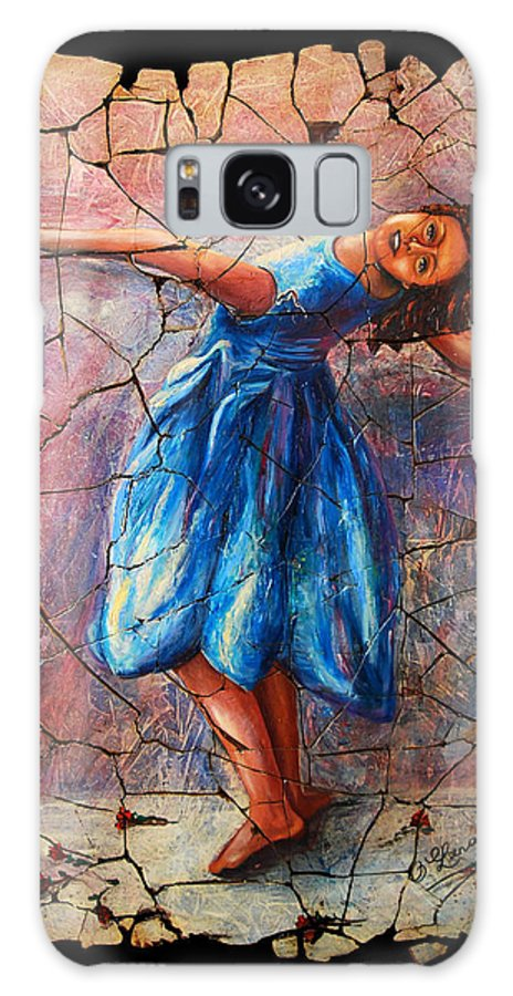 Isadora Duncan Galaxy S8 Case featuring the painting Isadora Duncan - 1 by OLena Art Brand
