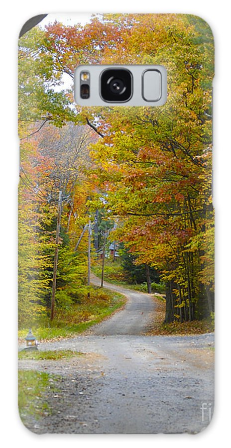 Dirt Road Galaxy S8 Case featuring the photograph Island Crossroad by Faith Harron Boudreau