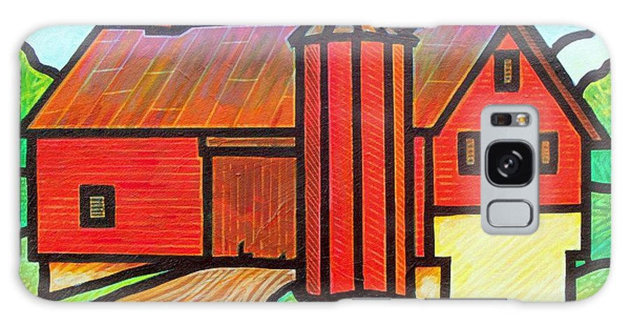 Barn Galaxy S8 Case featuring the painting Island Ford Barn 2 by Jim Harris