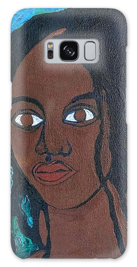 Galaxy S8 Case featuring the painting Island Girl, One Of 6 Daughters by Kalikata MBula