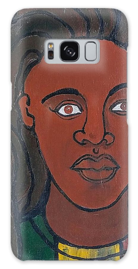 Rasta Galaxy S8 Case featuring the painting Island Girl Series by Kalikata MBula