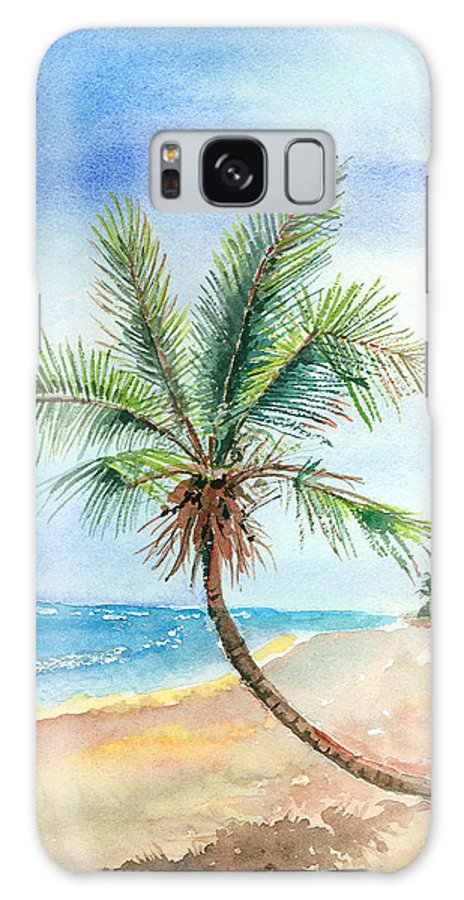 Palm Galaxy Case featuring the painting Island Palm by Arline Wagner