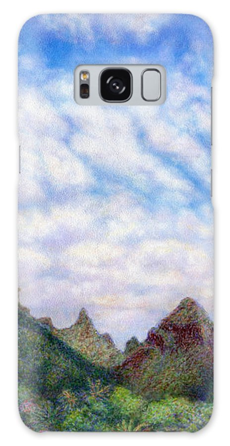 Coastal Decor Galaxy S8 Case featuring the painting Island Sky by Kenneth Grzesik