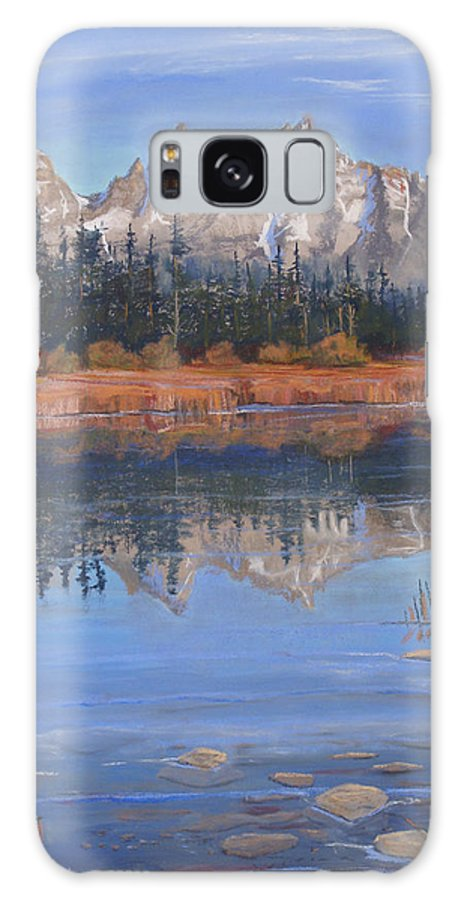 Grand Tetons Galaxy S8 Case featuring the pastel Isn't It Grand by Heather Coen