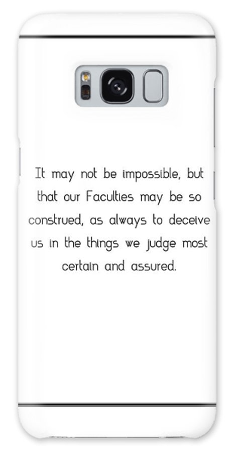 It Galaxy S8 Case featuring the digital art It May Not Be Impossible,... by Famous Quotes