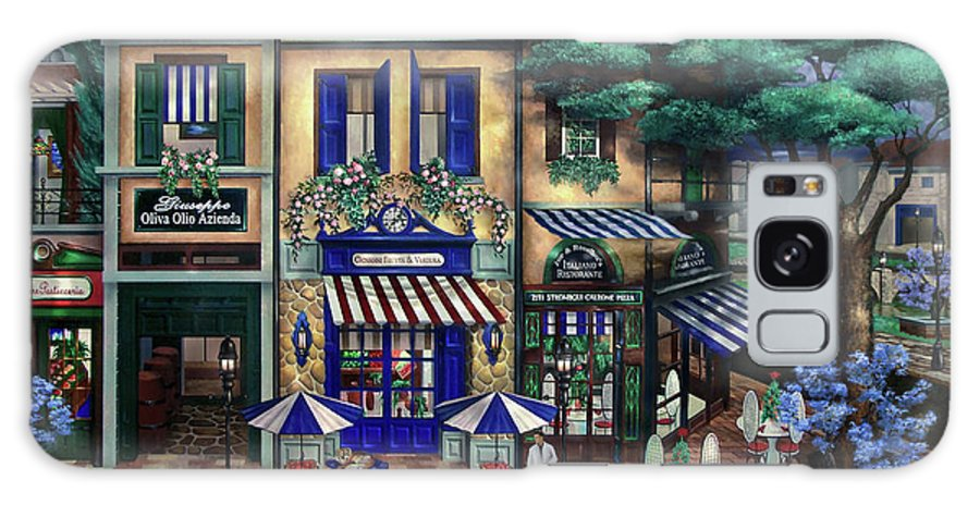 Italian Galaxy Case featuring the mixed media Italian Cafe by Curtiss Shaffer