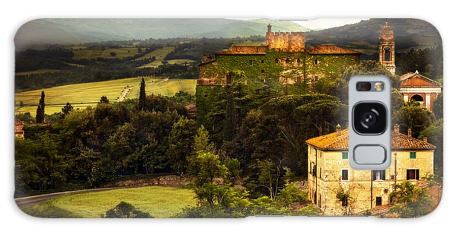 Italy Galaxy S8 Case featuring the photograph Italian Castle And Landscape by Marilyn Hunt