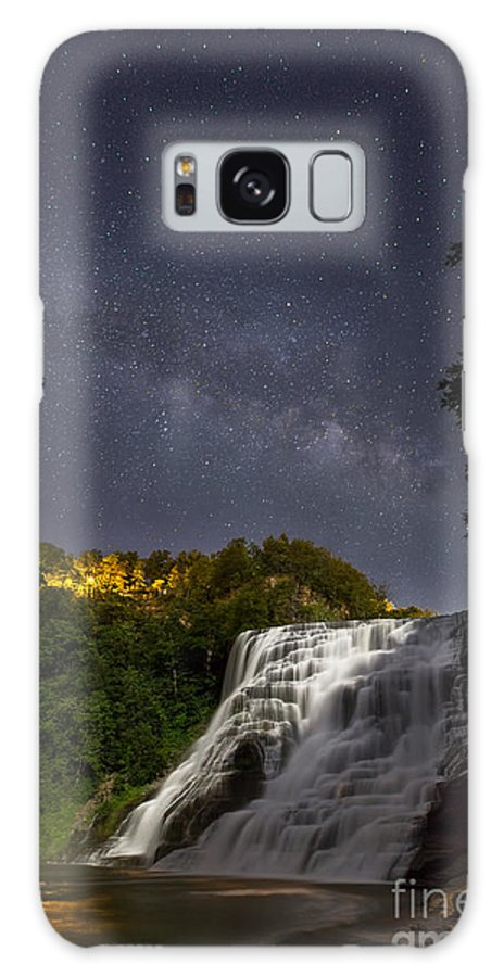 Michele Galaxy S8 Case featuring the photograph Ithaca Falls By Moonlight by Michele Steffey