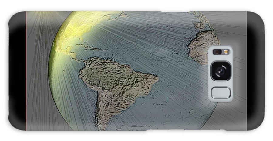 Digital Abstract Galaxy S8 Case featuring the digital art It's An Abstract World by John Krakora
