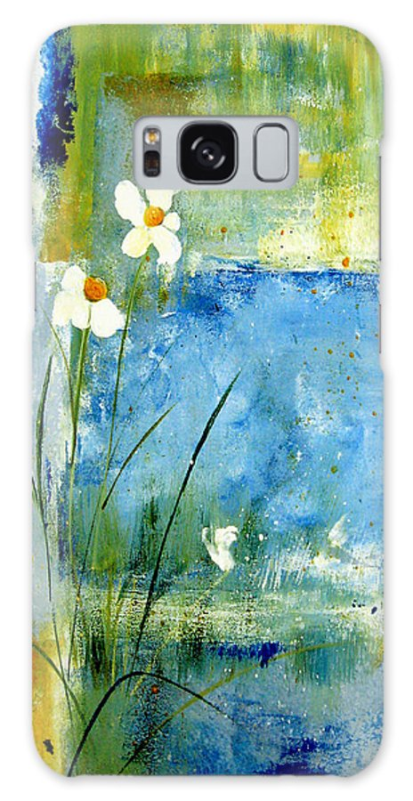 Abstract Galaxy S8 Case featuring the painting It's Just You And Me by Ruth Palmer