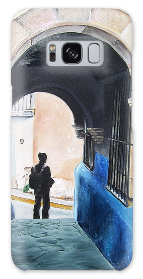 Archway Galaxy S8 Case featuring the painting Ivan In The Street by Laura Pierre-Louis