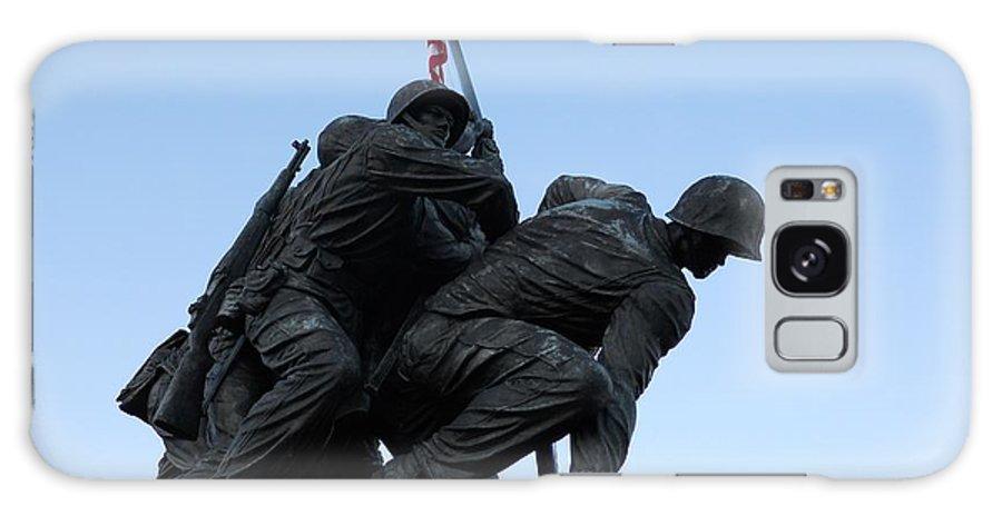 Iwo Galaxy S8 Case featuring the photograph Iwo Jima Memorial by Alan Espasandin