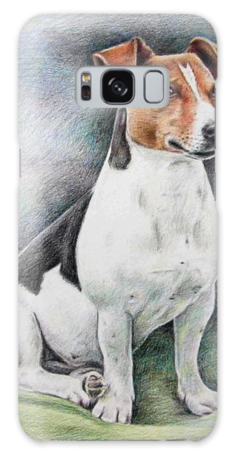 Dog Galaxy S8 Case featuring the drawing Jack Russell Terrier by Nicole Zeug