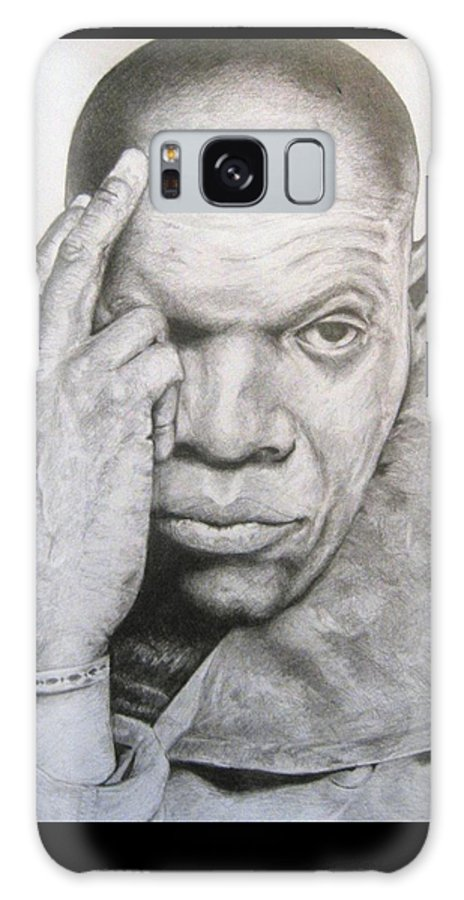 Portrait Galaxy Case featuring the drawing Jackson By Kyle Anderson by Joyce Owens