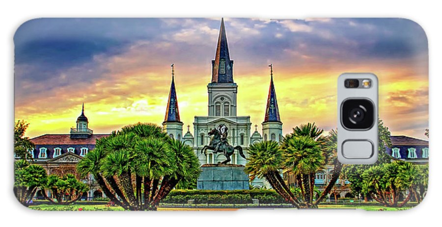 French Quarter Galaxy S8 Case featuring the photograph Jackson Square Evening by Steve Harrington