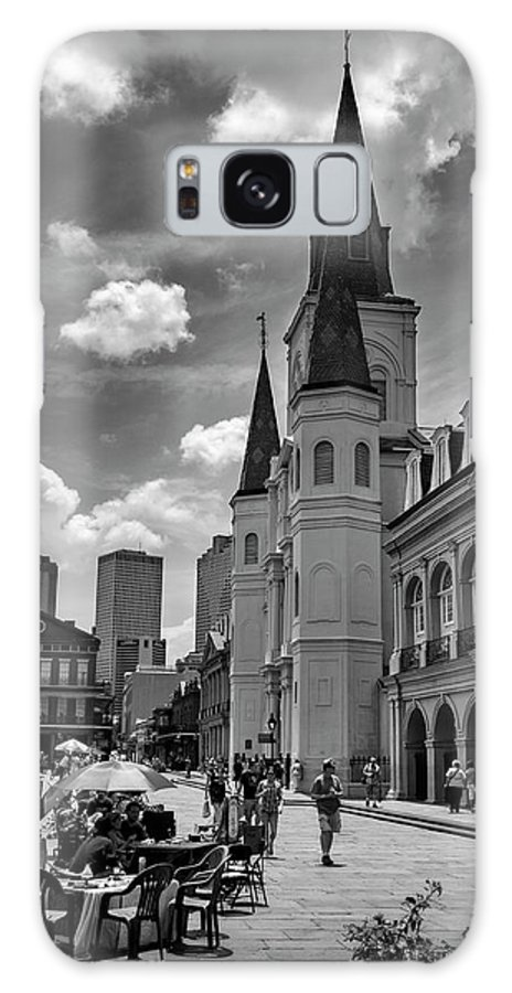 Jackson Square Galaxy S8 Case featuring the photograph Jackson Square In Black And White by Greg Mimbs