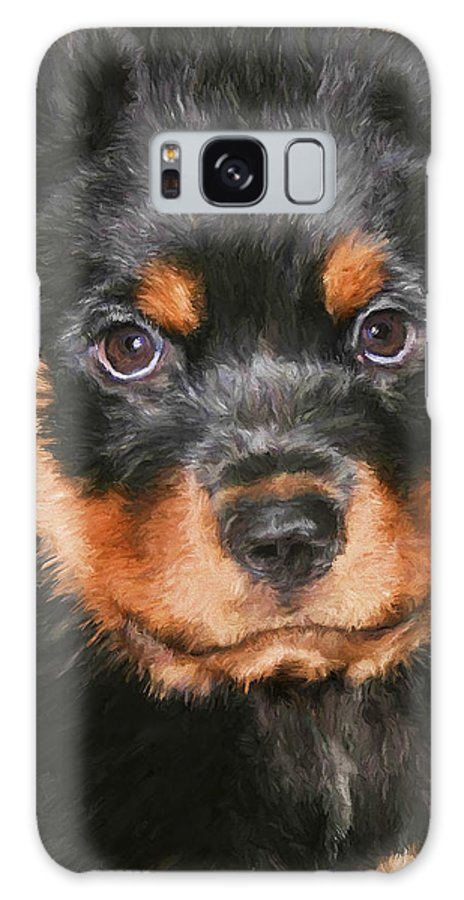 Rottweiler Galaxy Case featuring the painting Jacob by David Wagner