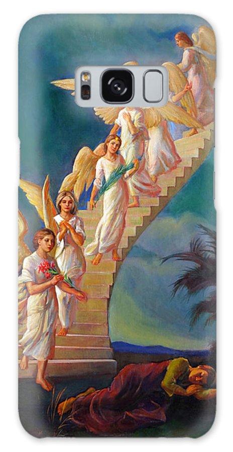 Jacob Galaxy S8 Case featuring the painting Jacob's Ladder - Jacob's Dream by Svitozar Nenyuk