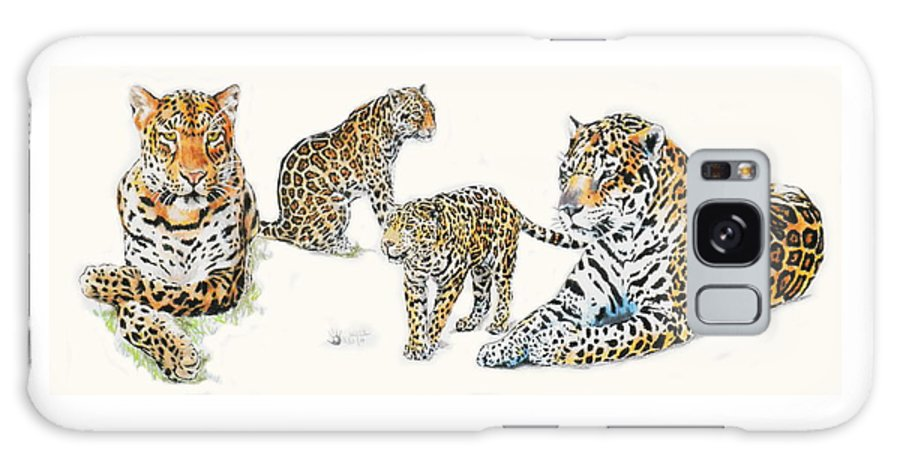 Big Cat Galaxy Case featuring the mixed media Jaguar Wrap by Barbara Keith