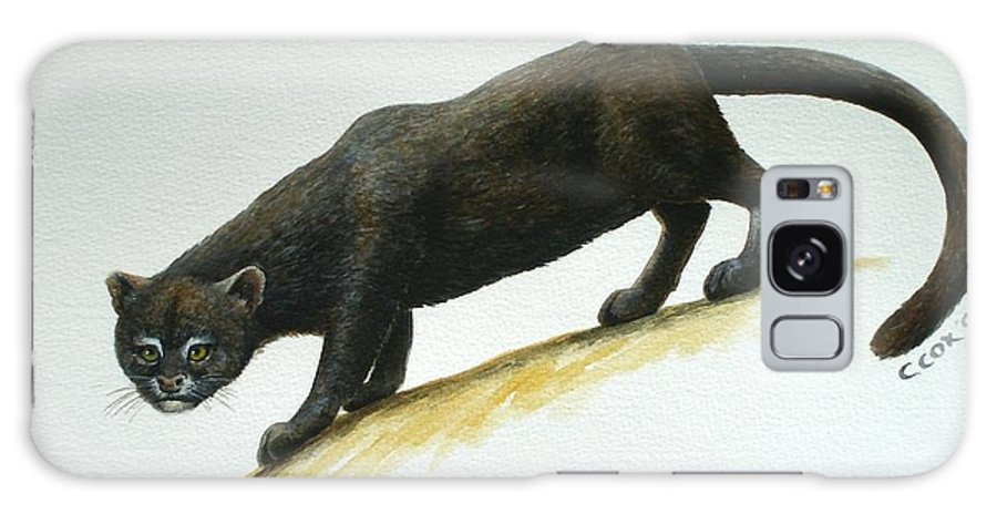 Jaguarundi Galaxy Case featuring the painting Jaguarundi by Christopher Cox