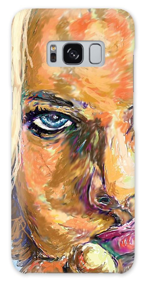 Jaime Pressly Galaxy S8 Case featuring the painting Jaime Pressly by Travis Day