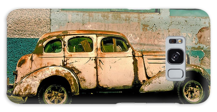 Skip Galaxy Case featuring the photograph Jalopy by Skip Hunt