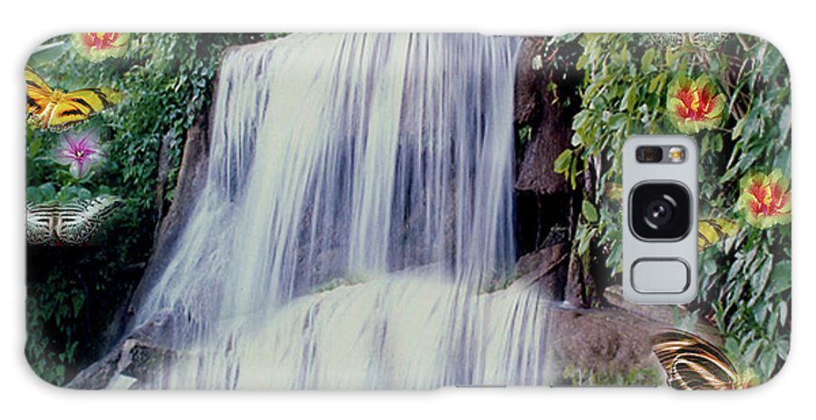 Water Galaxy S8 Case featuring the photograph Jamaican Waterfalls by Donna Brown