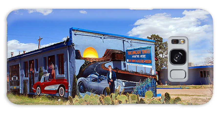 Route 66 Galaxy S8 Case featuring the photograph James Dean Was Here Too by Susanne Van Hulst