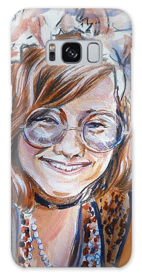 Janis Joplin Galaxy S8 Case featuring the painting Janis Joplin by Bryan Bustard