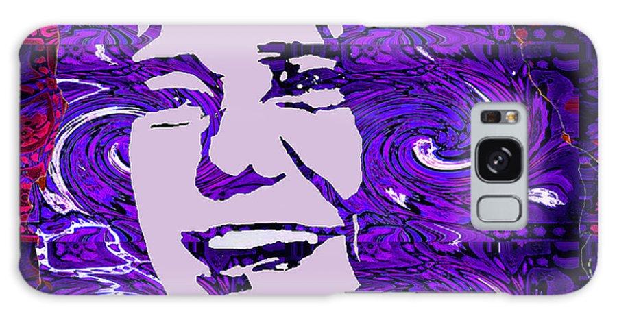 Girl Galaxy S8 Case featuring the digital art Janis Joplin by Kevin Jurva