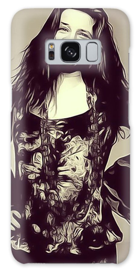 Janis Galaxy S8 Case featuring the digital art Janis Joplin, Music Legend by John Springfield