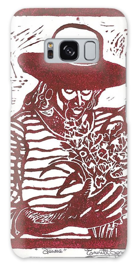 Jannie Galaxy S8 Case featuring the painting Jannie by Everett Spruill