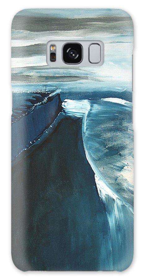 Abstract Acrylic Artist Blue Darkest Darkestartist January Painting Water Ice Galaxy S8 Case featuring the painting January by Darkest Artist