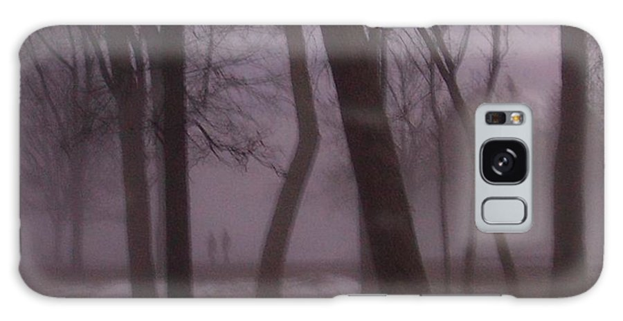 January Galaxy Case featuring the photograph January Fog 1 by Anita Burgermeister