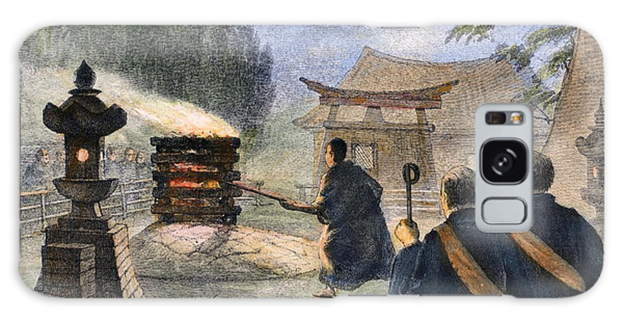1890 Galaxy S8 Case featuring the photograph Japan: Cremation, 1890 by Granger