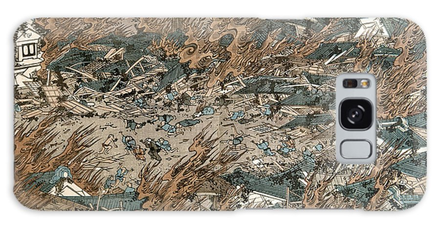 1855 Galaxy S8 Case featuring the photograph Japan: Earthquake, 1855 by Granger