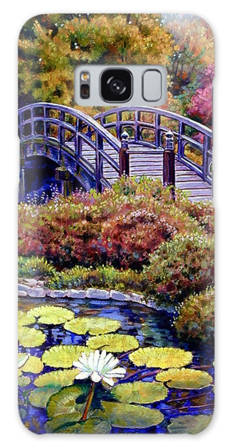 Japanese Bridge Galaxy S8 Case featuring the painting Japanese Bridge by John Lautermilch
