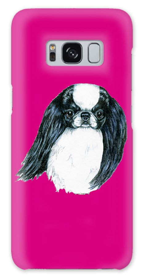 Japanese Chin Galaxy Case featuring the drawing Japanese Chin by Kathleen Sepulveda