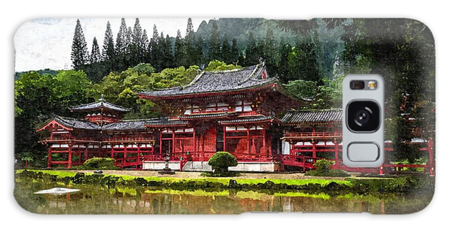 Garden Galaxy S8 Case featuring the painting Japanese Garden by MJ Arts Collection