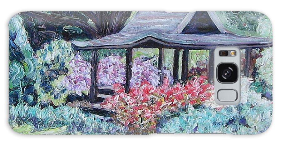 Garden Galaxy S8 Case featuring the painting Japanese Garden by Richard Nowak
