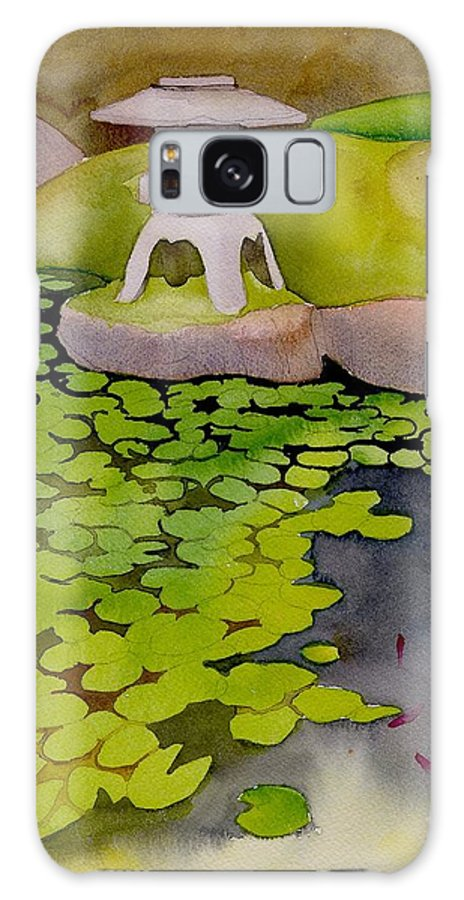 Japanese Galaxy S8 Case featuring the painting Japanese Garden by Yolanda Koh