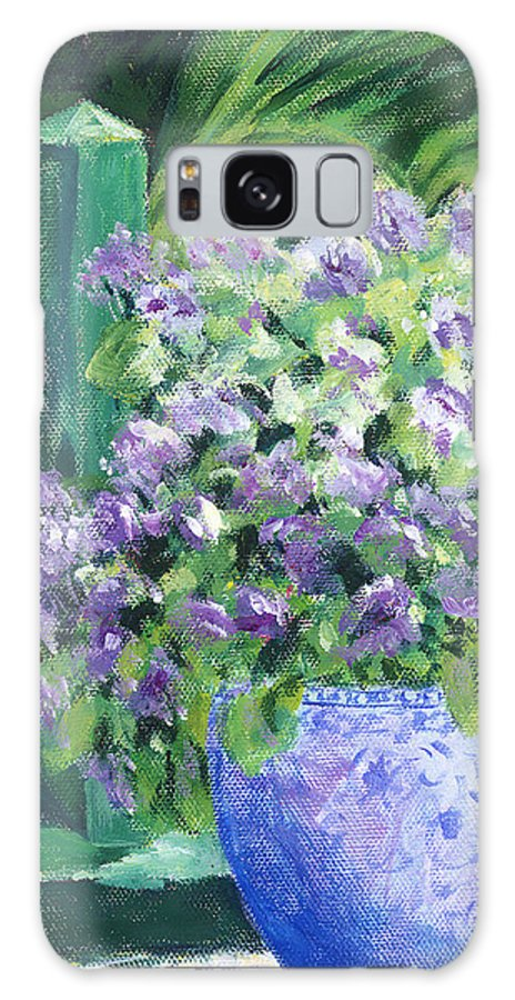 Impressionism Galaxy S8 Case featuring the painting Japanese Pot At Monets Home by Tara Moorman