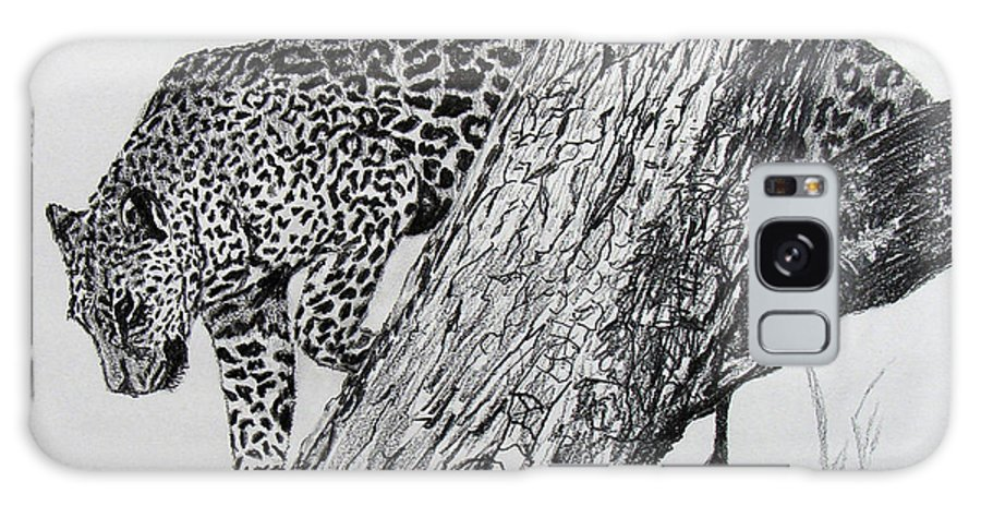 Original Drawing Galaxy S8 Case featuring the drawing Jaquar In Tree by Stan Hamilton