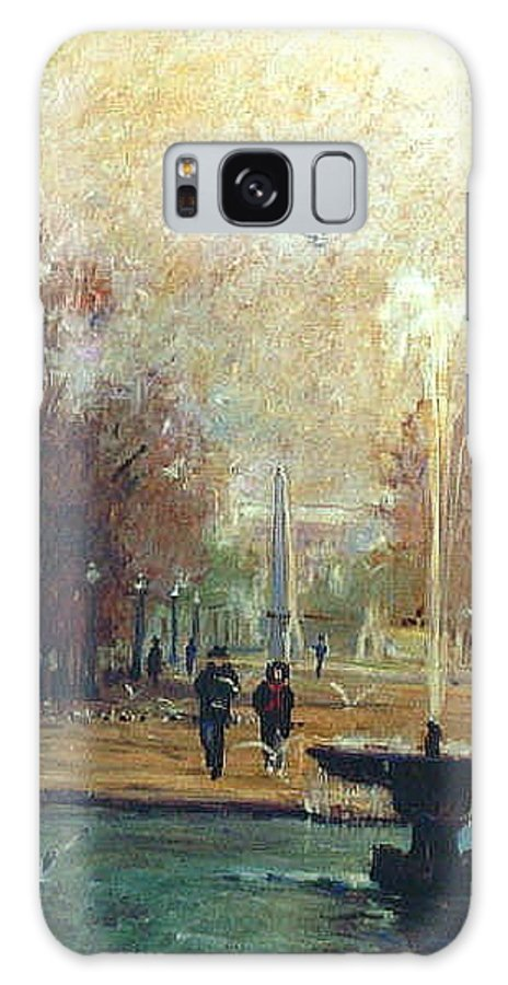 Garden Galaxy S8 Case featuring the painting Jardin Des Tuileries by Walter Casaravilla