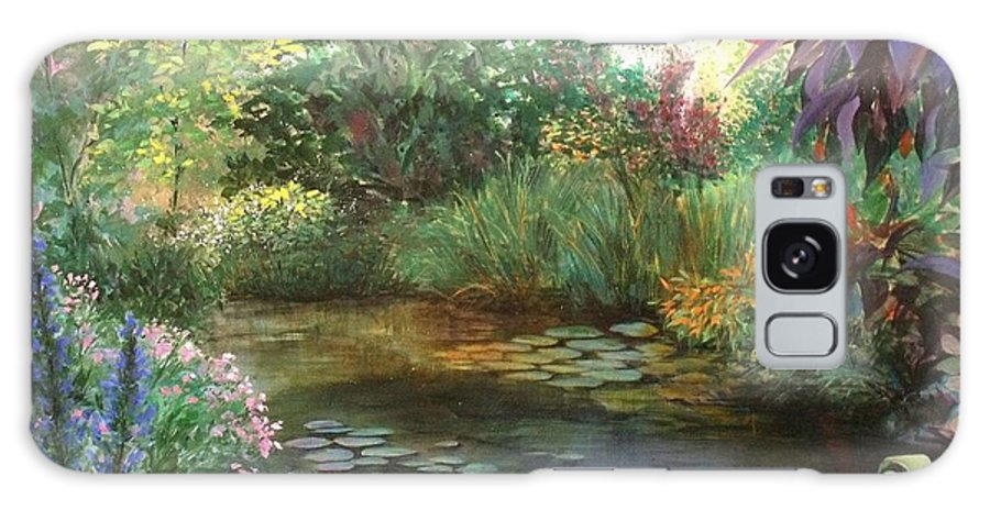 Canvas Print Landscape Galaxy S8 Case featuring the painting Jardin Giverny by Madeleine Holzberg