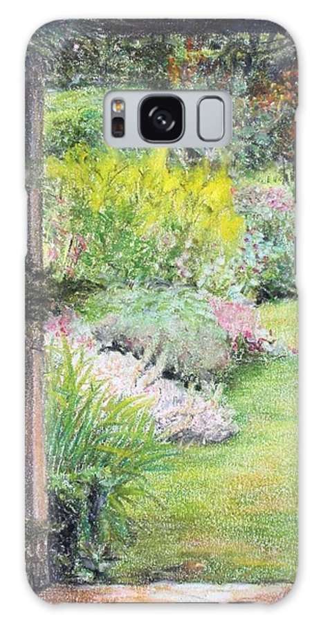 Landscape Galaxy Case featuring the drawing Jardin by Muriel Dolemieux