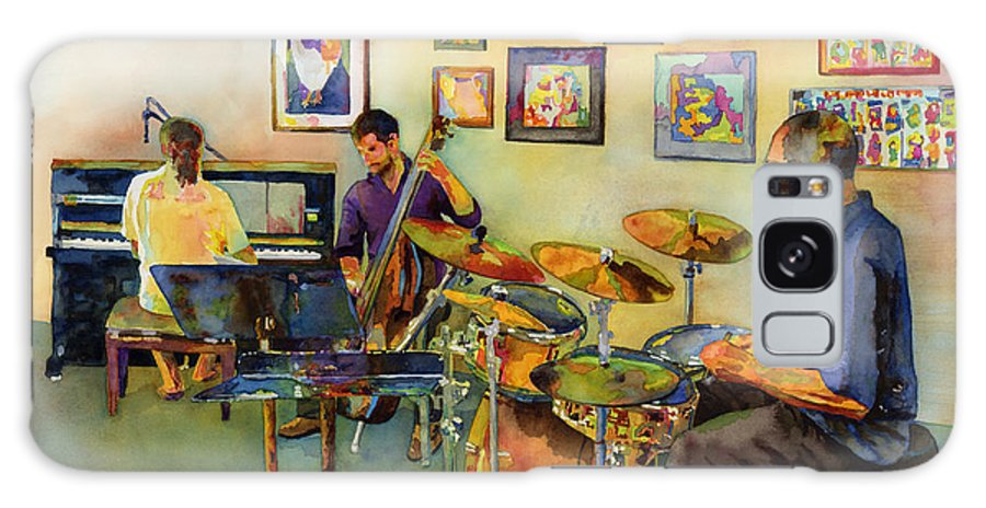 Jazz Galaxy Case featuring the painting Jazz at the Gallery by Hailey E Herrera