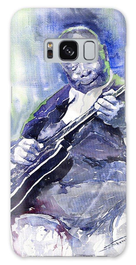 Jazz Galaxy S8 Case featuring the painting Jazz B B King 02 by Yuriy Shevchuk