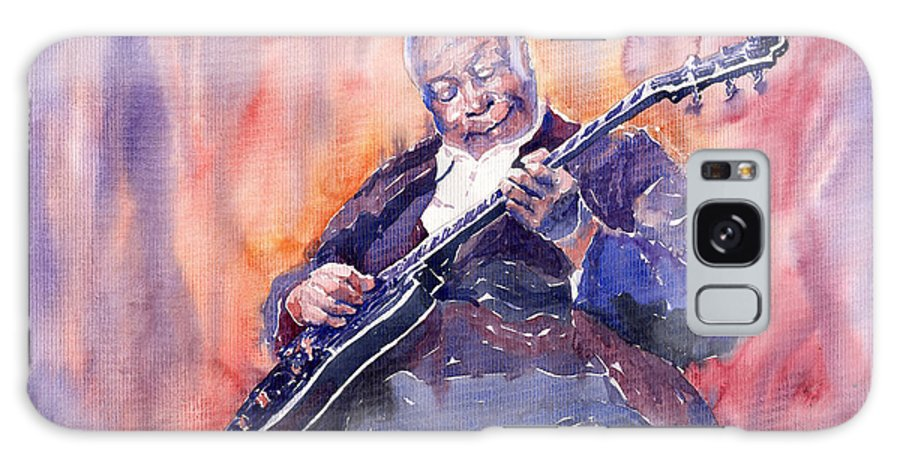 Jazz Galaxy Case featuring the painting Jazz B.b. King 03 by Yuriy Shevchuk