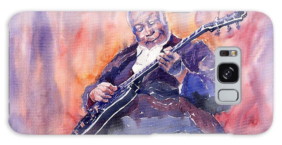 Jazz Galaxy S8 Case featuring the painting Jazz B.b. King 03 by Yuriy Shevchuk